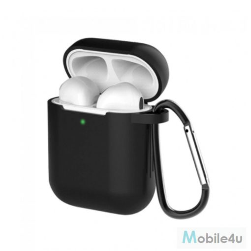 Airpods szilikon tok, Fekete, 1.5mm(AIRPODS-CASE-BK)