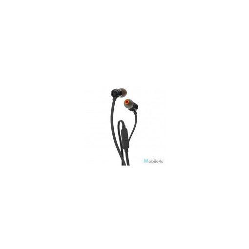 1. JBL T110 headset, egy gombos távírányító,Fekete(JBL-T110-BLK)