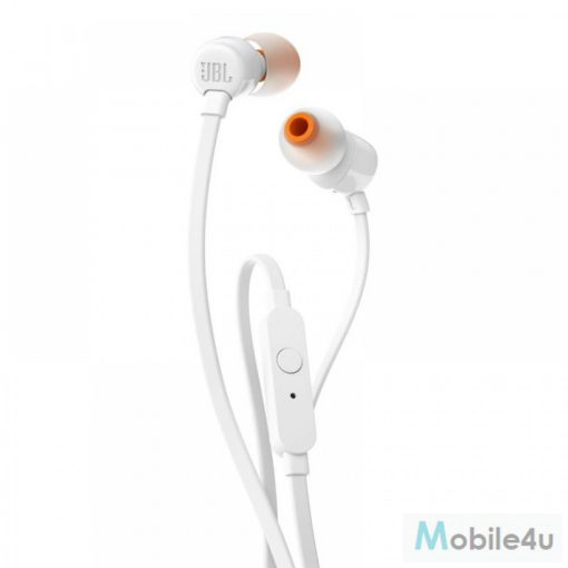 JBL T110 headset, egy gombos távírányító, Fehér(JBL-T110-WHT)