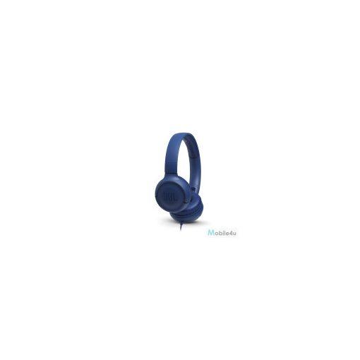 JBL T500 vezetékes fejhallgató, Kék