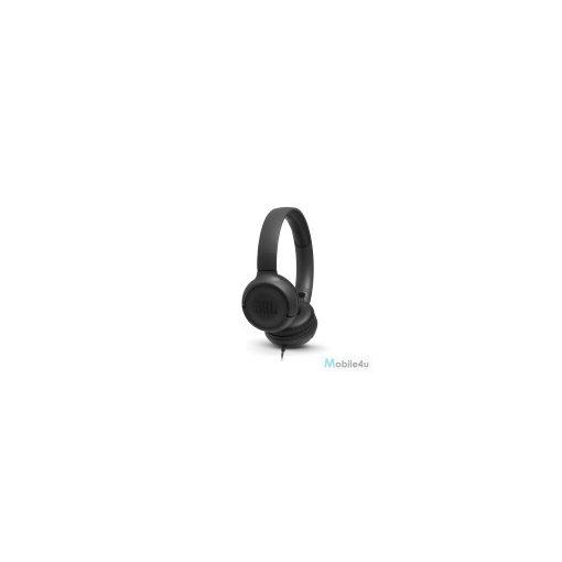 JBL T500 vezetékes fejhallgató, Fekete(JBL-T500BLK)